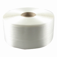 Omsnoeringsband - Polyesterband - 12 mm - geweven  rol 1100 mtr