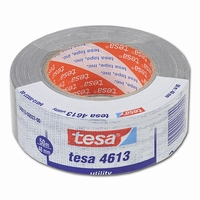 Tape - duct tape - 48   mm x 50 mtr - Tesa 4613 - grijs  rol