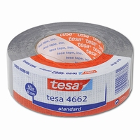 Tape - duct tape - 48   mm x 50 mtr - Tesa 4662 - grijs  rol