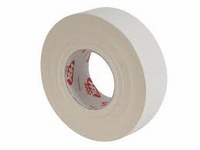 Tape - linnen tape - 19 mm x 50 mtr - gebleekt - wit  doos 48 rol