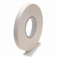 Tape - Foam tape  - 12 mm x 50 mtr - hotmelt - wit  doos 24 rol